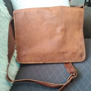 Other - NWOT Leather laptop Messenger